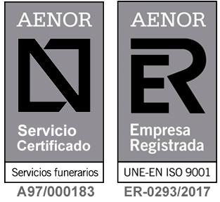 Logotipos Certificados AENOR de Funcantabria